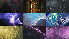 4K video backgrounds pack Lines & particles / 9 motion clips / Vj loops / 2160P