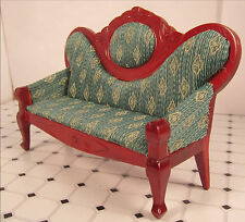 Dollhouse Furniture Victorian Sofa Minature Victorian Green Sofa
