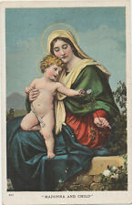B8317 1908 POSTCARD RELIGION BIBLE HOLY SCRIPTURE MADONNA & CHILD