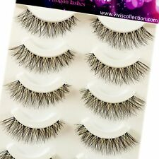 Vivi'S COLLECTION 5 paia V000 NATURALE DEMI wispies ciglia falso occhio ciglia