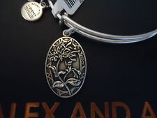Alex and Ani Because I Love You SISTER II Russian Silver Bangle New Tag Card Box