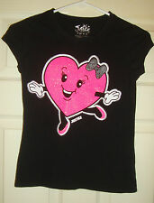 JUSTICE~girl's~SPARKLY/ALL/I/WANT/TO/DO/IS/DANCE/BLACK/TOP! (8) BRAND/NEW! NICE!