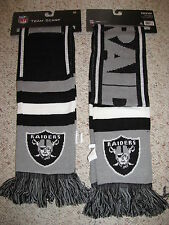 NICE!! OAKLAND RAIDERS KNIT 2013 TEAM SCARF NFL LICENSED BRAND NEW!!
