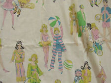 Vintage 1970's BARBIE Twin Flat Bed Sheet Bedding