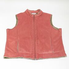 Pendleton Faux Fur Lined Women's Vest - Pink - XL - EUC