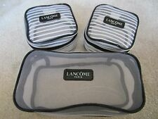 Lancome Signature 3 TRANSPARENT COSMETIC BAGS MAKEUP BAGS BRAND NEW LIMITED EDIT