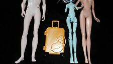 NEW Doll Luggage Gold Suitcase Fits Barbie Ken Monster High Bratz Ever After