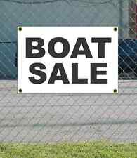 2x3 BOAT SALE Black & White Banner Sign NEW Discount Size & Price FREE SHIP