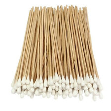 "NEW 100 PCS Cotton Swab Applicator Q-tip Swabs 6"" Extra Long Wood Handle Sturd"