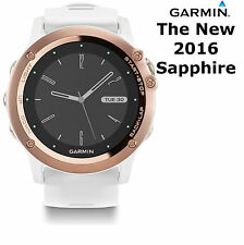 Garmin Fenix 3 Sapphire GPS Watch Sports Running Cycling Bike White Rose Gold
