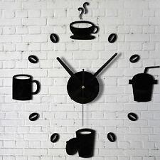 3D Design Wanduhr Dekouhr Spiegel Moderne Nummer Uhr Wandtattoo Aufkleber