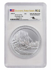2010-P 25c 5 oz Silver ATB Beautiful Parks Yosemite PCGS SP70 *Mercanti SKU44648