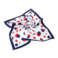 "Premium Silk Feel Polka Dots Square Satin Scarf 20"" - Different Prints Available"