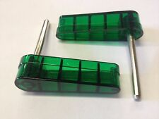 Bally 1970s 1980s Pinball Machine Green Translucent Flippers Set of 2 Eight Ball
