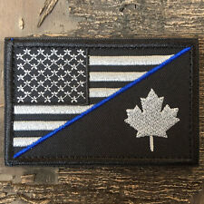 USA American Flag Canadian Flag Army Military Tactical Morale Desert Badge Patch