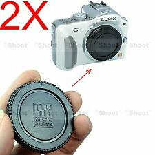 2x Camera Body Cover Cap for Olympus Micro Four Thirds M4/3 PEN E-P5 E-PM5 E-P3