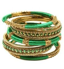 Amrita Singh Rupal Crystal Bangle Bracelet 15 Piece Set Bohemian Jewelry $175