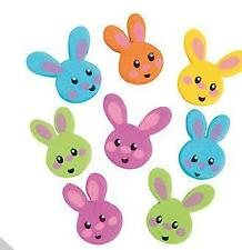 30 Easter Bunny Foam Bead Kids Crafts Spring 24mm approx. 1""