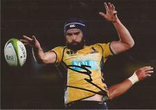 THE BRUMBIES: SCOTT FARDY SIGNED 6x4 ACTION PHOTO+COA *WALLABIES*