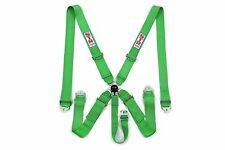 STR 5 Point Racing Safety Harness Seat Belt SFI  Aircraft Cam Lock Release GREEN