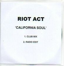 (450H) Riot Act, California Soul - DJ CD