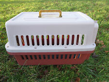 Premier Pet Carrier pequeñas dog/cats Metal Plástico Beige Y Crate