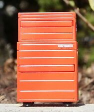Two (2) Craftmaster Red Tool Boxes 1/24 Scale G Scale Diorama Accessory Items