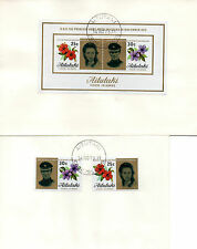 AITUTAKI 14 NOVEMBER 1973 ROYAL WEDDING ON 2 FIRST DAY COVERS CDS
