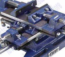 "DRILL PRESS MILLING VISE 5"" PRECISION MACHINED HD CAST IRON 56"" SQ X&Y MOVEMENT"