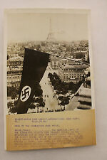 """Original WW2 International News Photograph, """"Mark of the Conquerors Over Paris"""""""