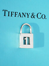 "Tiffany & Co Sterling Silver NOTES Numbers ""1"" or ""FIRST"" Padlock Charm ONLY"