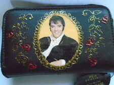 NEW BLACK SOFT LEATHER ELVIS  IMAGE  PICTURE PURSE