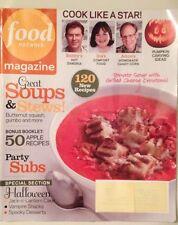 Food Network 2012 Halloween Magazine Pumpkin Carving Vampire And Spooky Deserts