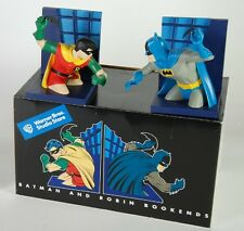 DC COMICS & WARNER BROS BATMAN & ROBIN SILVER AGE~BRAVE BOLD BOOKENDS STATUE Bus