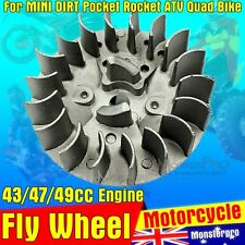 Starter Flywheel 47cc 49cc Pull Start Engine Mini Quad Pocket Rocket Dirt Bike
