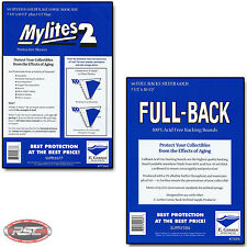 50 - GERBER FULL-BACK & MYLITES 2 SILVER & GOLDEN AGE Mylar & Boards 750FB/775M2