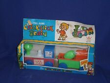 Vintage Pull Along Click-Click Toy Train Set by Jimson c1960s 10 inch Mint