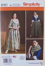 SIMPLICITY 8161 PATTERN COSTUME 18TH CENTURY GOWN OUTLANDER PLUS SZ 14-22 UNCUT