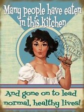 Many people have eaten in this kitchen Vintage Retro Novelty Fridge Magnet