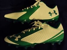 Under Armour Nitro ClutchFit Men 13 Football Soccer Cleats  White Green New