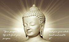 """Framed Print - Buddha """"Find Your Purpose"""" (Picture Buddhist Buddhism Word Art)"""
