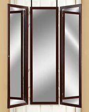 Over the Door Mirror Dressing Room Tri Fold Mirrors Hanging 3 Panel Full Length