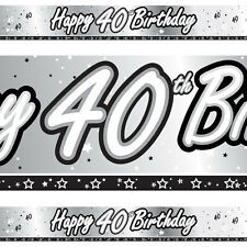 40th Birthday Foil Banner 9ft