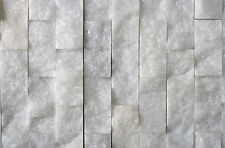 BRILLIANT WHITE REAL MARBLE SPLIT FACE MOSAIC MOSAICS £79.99 PER SQM