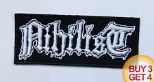 NIHILIST WT PATCH BUY3GET4,ENTOMBED,GRAVE,AUTOPSY,OBITUARY,ASPHYX,DEATH METAL