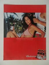 2002 Print Ad Bud Light Budweiser Beer ~ Sexy Girl Bikini Confidence