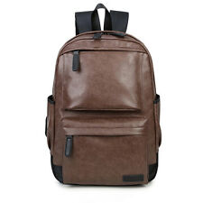 US Men Women Backpack Travel Leather Handbag Rucksack Shoulder School Book Bags