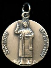 Saint Stephen Religious Pendent Silver Filled