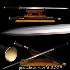 Boutique Chinese Longquan Sword High Manganese Steel Copper Fitting Razor Sharp