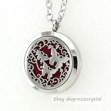 1P 30MM Chrome Butterfly 316L Stainless Steel  Aromatherapy Diffuser Locket